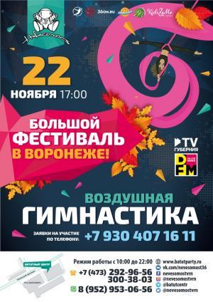 Большой фестиваль в Воронеже по Воздушной Гимнастике 22 Ноября 2019 года.